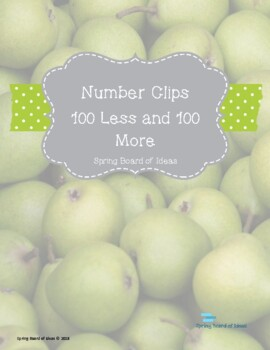 Number Clips 100 More and 100 Less