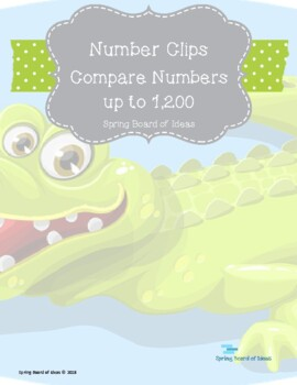 Number Clips Compare up to 1,200