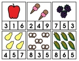 Number Clips (food theme)