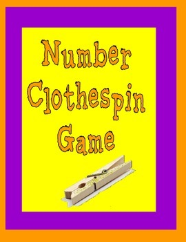 Number Clothespin Game