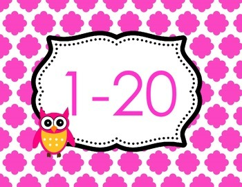 Number Club Owls Theme Counting or Writing 0-100