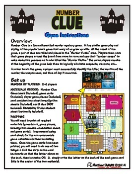 Number Clue game (divisibility, multiples, factors, prime and composite game)