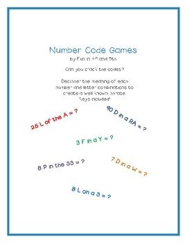 Number Code Games