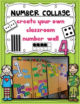 Number Collage {Create Your Own} for a Classroom Math Wall