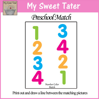 Number Color Match Sheet