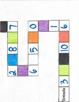 Number/ Color board game Prt.I