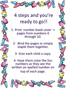Number Coloring Book 0 - 10