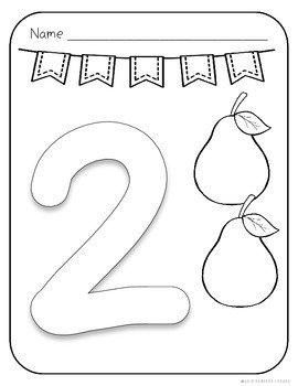 Number Coloring Pages - 1 to 10 Pages with Large Numbers ...
