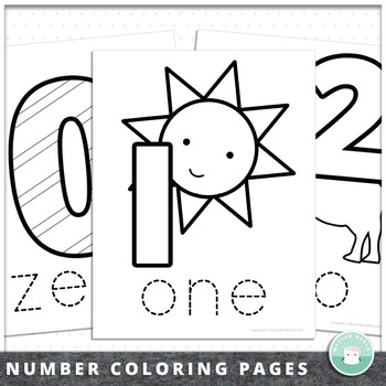 Number Coloring Pages and Number Book