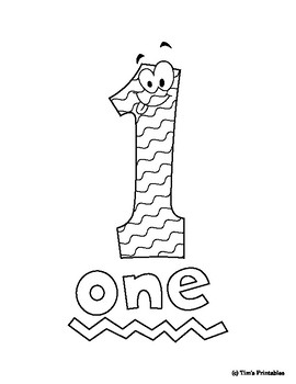Number Coloring Pages for Preschool! Numbers 1-10