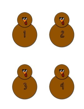 Number Combination Turkeys