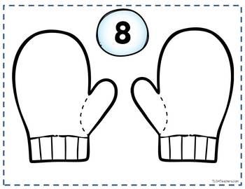 Number Combinations Mittens~Composing and Decomposing Numbers