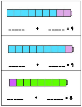 Number Combinations - Numbers to Ten