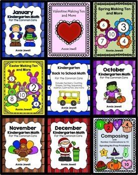 Kindergarten Math BUNDLE Activities and Worksheets for the