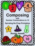 Number Combinations to Ten Monthly Activities