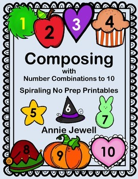 Number Combinations to Ten Monthly Activities