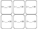 Number Combinations to 20, Finding the Missing Number, 2nd Grade