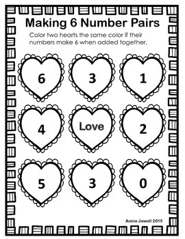Number Combinations to Ten Monthly Kindergarten Common Core Math Freebie