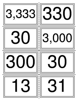 Number Comparison Card Game