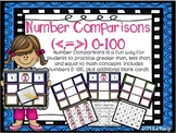 Number Comparisons (Greater Than, Less Than, or Equal Work