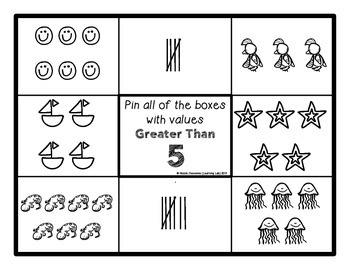 Number Comparisons (Pictures within 20) - Self-Checking Math Centers