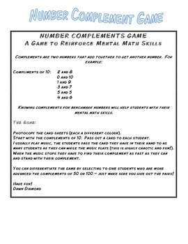 Number Complements: A Fun Way to Reinforce Mental Math Skills