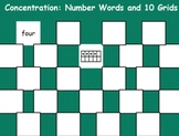 Number Concentration--FlipChart Number Game for Kindergarten Common Core Math