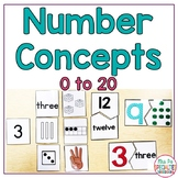 Number Concepts 0 to 20 Math Unit for Special Education and Autism Programs