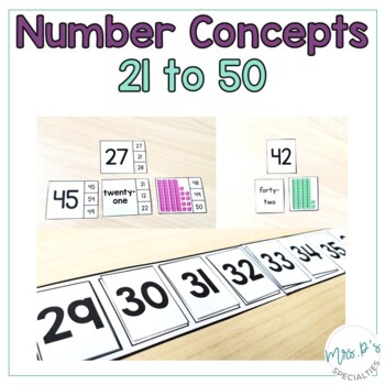Number Concepts 21 to 50  (Special Education Math Unit)