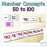 Number Concepts 50 to 100  (Special Education Math Unit)