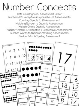 Number Concepts Assessments