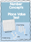 Number Concepts - Place Value Test