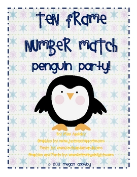 Number Concepts- Ten Frame- Penguin Party