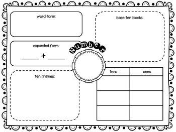 Number Concepts Worksheet FREEBIE