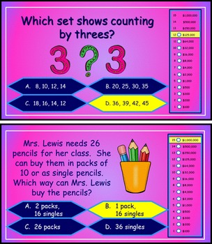 Number Concepts and Basic Place Value Power Point Millionaire Game 2nd Grade