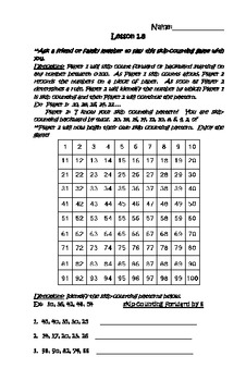 Number Concepts/Place Value Math Journal
