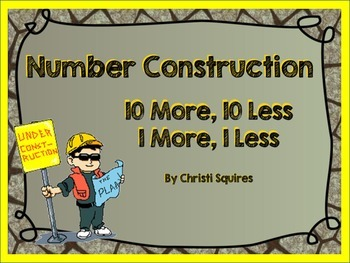 10 More, 10 Less, 1 More, 1 Less Number Construction (SMARTBoard)