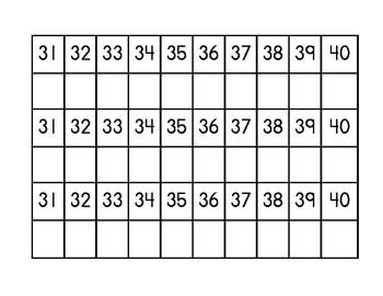 Number Copying Mats