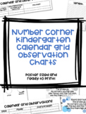 Bridges Number Corner Calendar Grid Observation Charts-Kindergarten