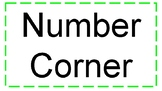 Number Corner Sign