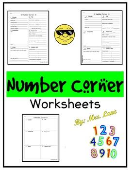 Number Corner Worksheets