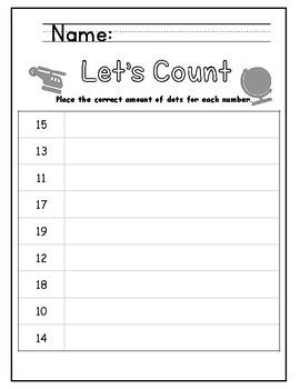 Around the World - Number Correspondence Worksheets