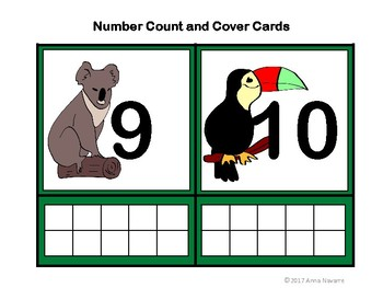 Number Count and Cover Cards