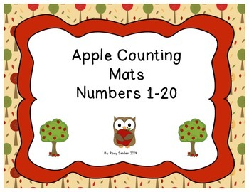 Number Counting Apple Mats