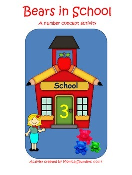 Number Counting Bears in School