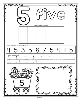 Number Counting Book for Christmas 1-20 No-Prep Printables