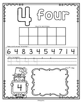 Number Counting Book for Leprechauns 1-20 No-Prep Printables