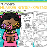 Number Counting Book for SPRING 1-20 No-Prep Printables