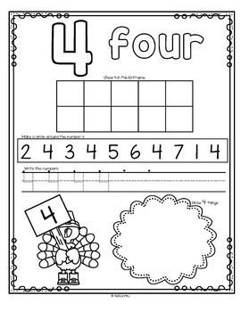 Number Counting Book for Thanksgiving 1-20 No-Prep Printables