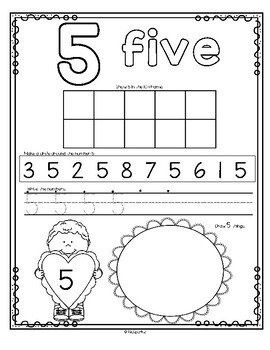Number Counting Book for Valentine's Day 1-20 No-Prep Printables